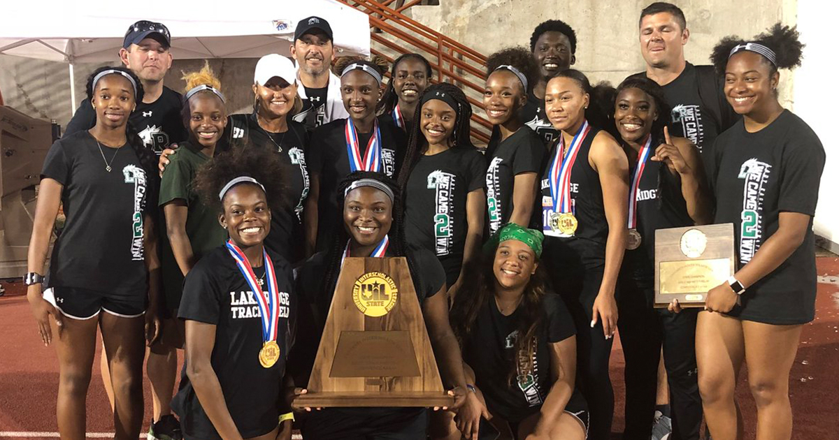 Lake Ridge High girls track team